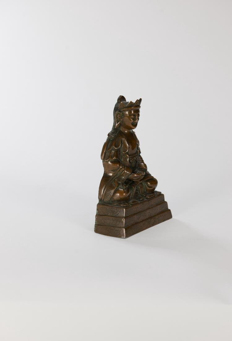 Qing- A Bronze Figure Of Buddha - 5