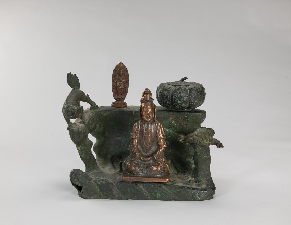 Ming/20th Century-A Group Of Five Bronze Item