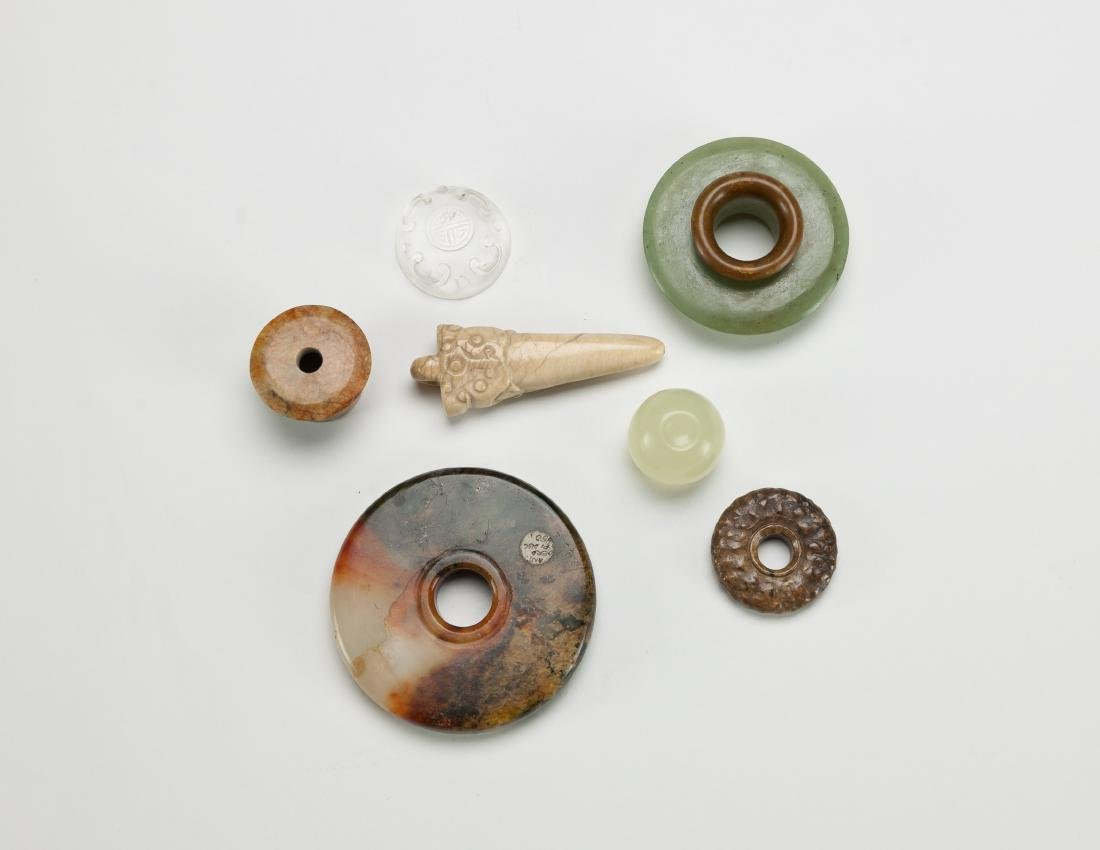 Qing - A Group Of Six Small Jade Stones