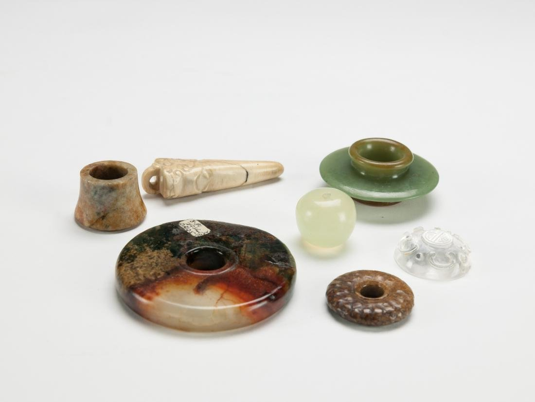 Qing - A Group Of Six Small Jade Stones - 2
