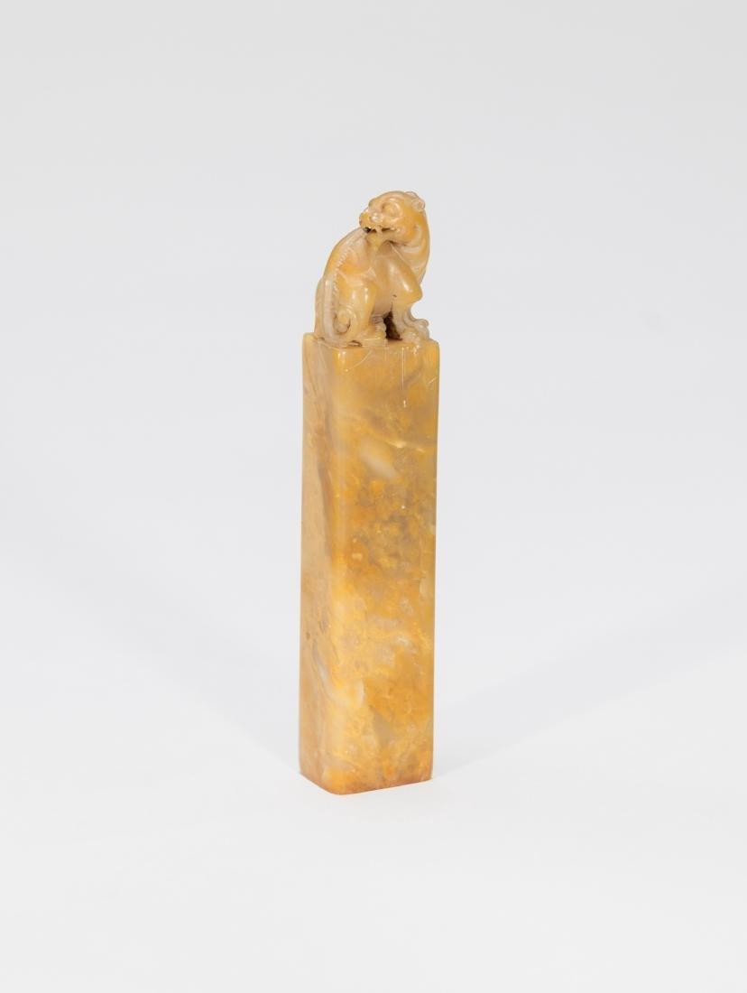 Liu Chunlin(1872-1944) A Soapstone Seal