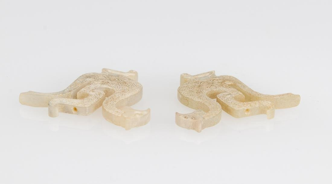 Western Zhou- A Pair Of Jade Birds - 5