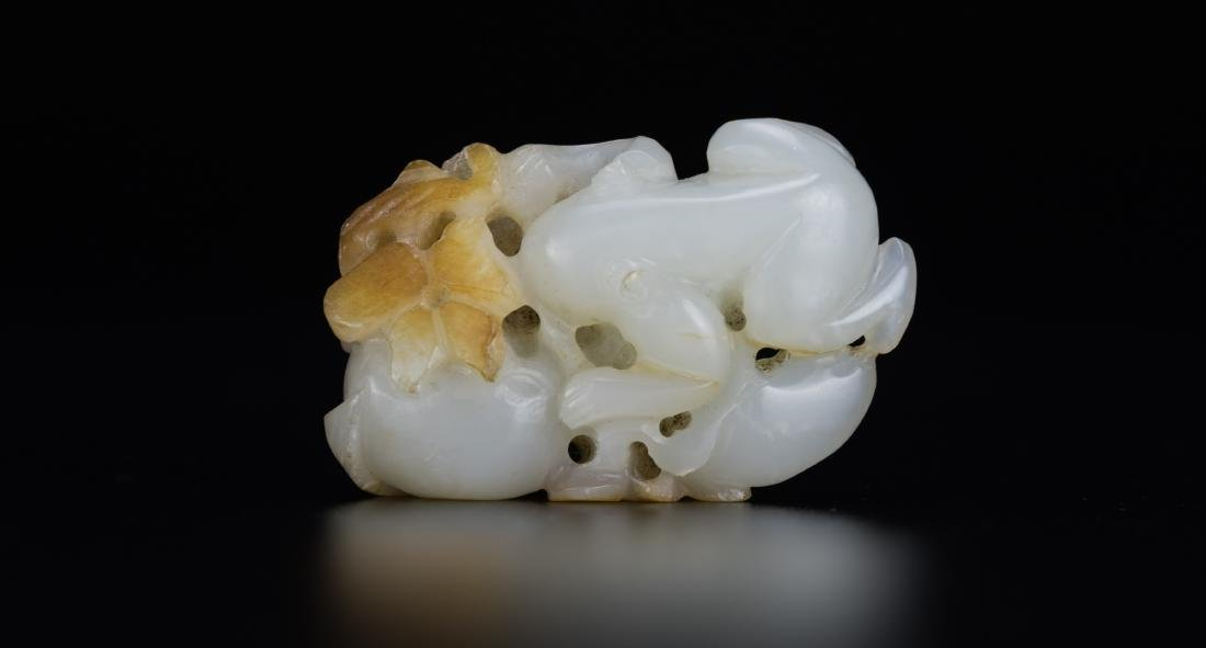 Qing - A Russet White Jade Carved Toad