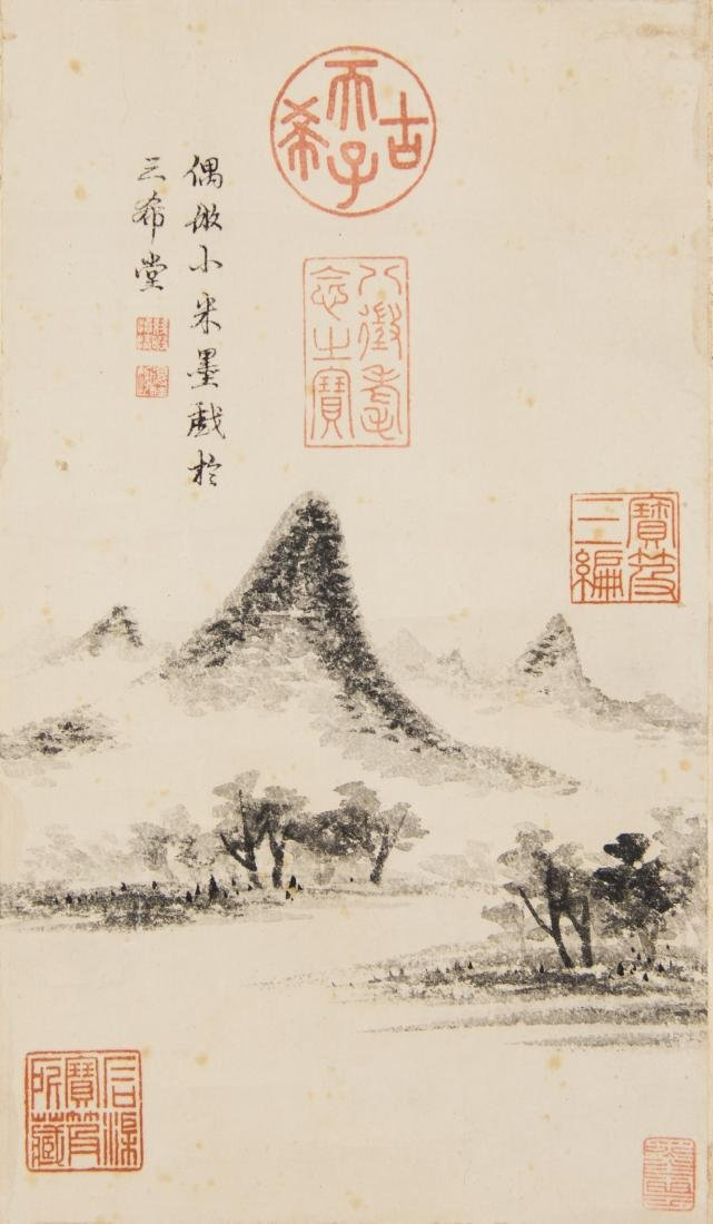 Attributed ToQianlong Painting Ink On Paper, Hanging