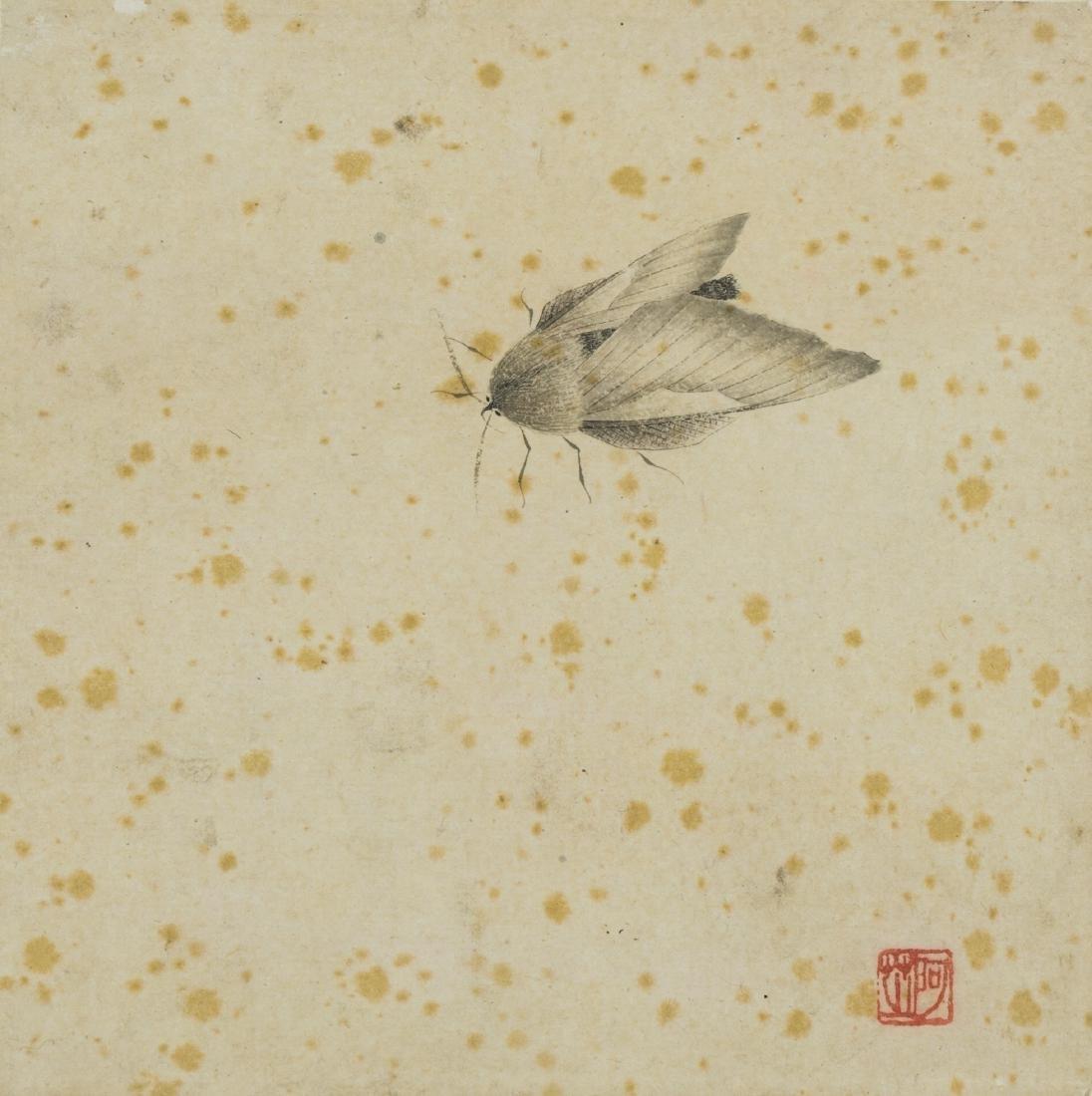 Qi Baishi(1864-1957) Ink On Paper, Mounted, Seal
