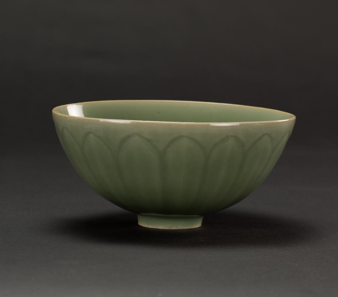 Qing-A Longquan 'Lotus ' Bowl - 3