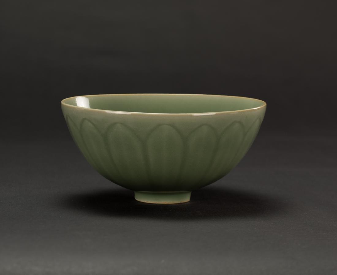 Qing-A Longquan 'Lotus ' Bowl - 4