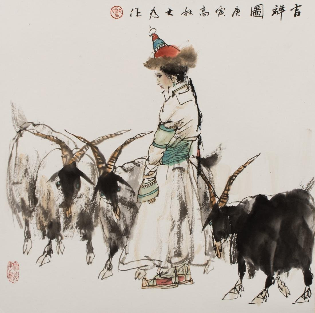 Liu Dawei(B.1945)Ink And Color On Paper,MountedSigned