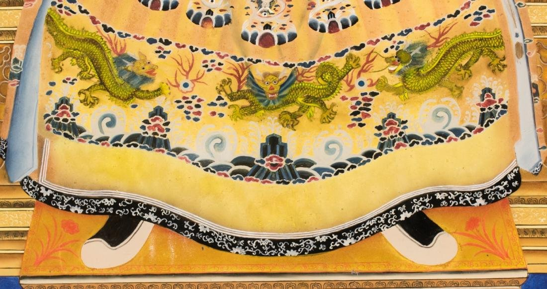 A Pair Of Reverse Glass Painting Of Emperor Qianlong - 6