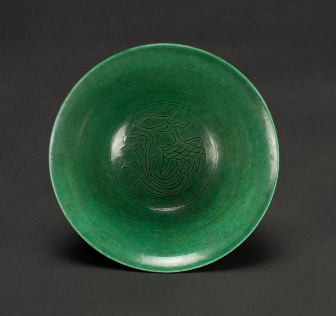 A Green Ground Dragon Bowl'Da Ming Wanli Nian Zhi' - 6
