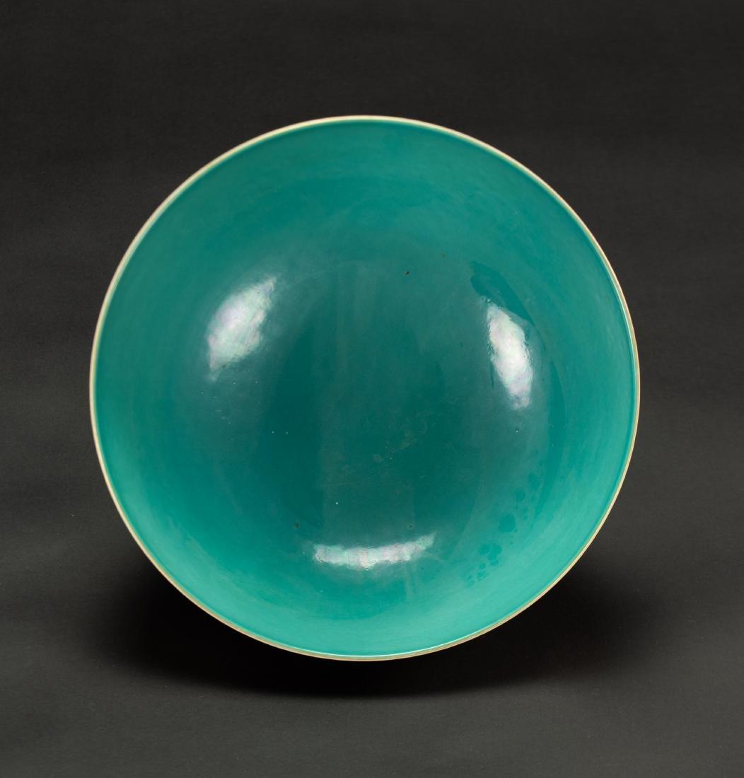 A Roug Glazed'Landscrape' Bowl'Da Qing Qainlong - 6