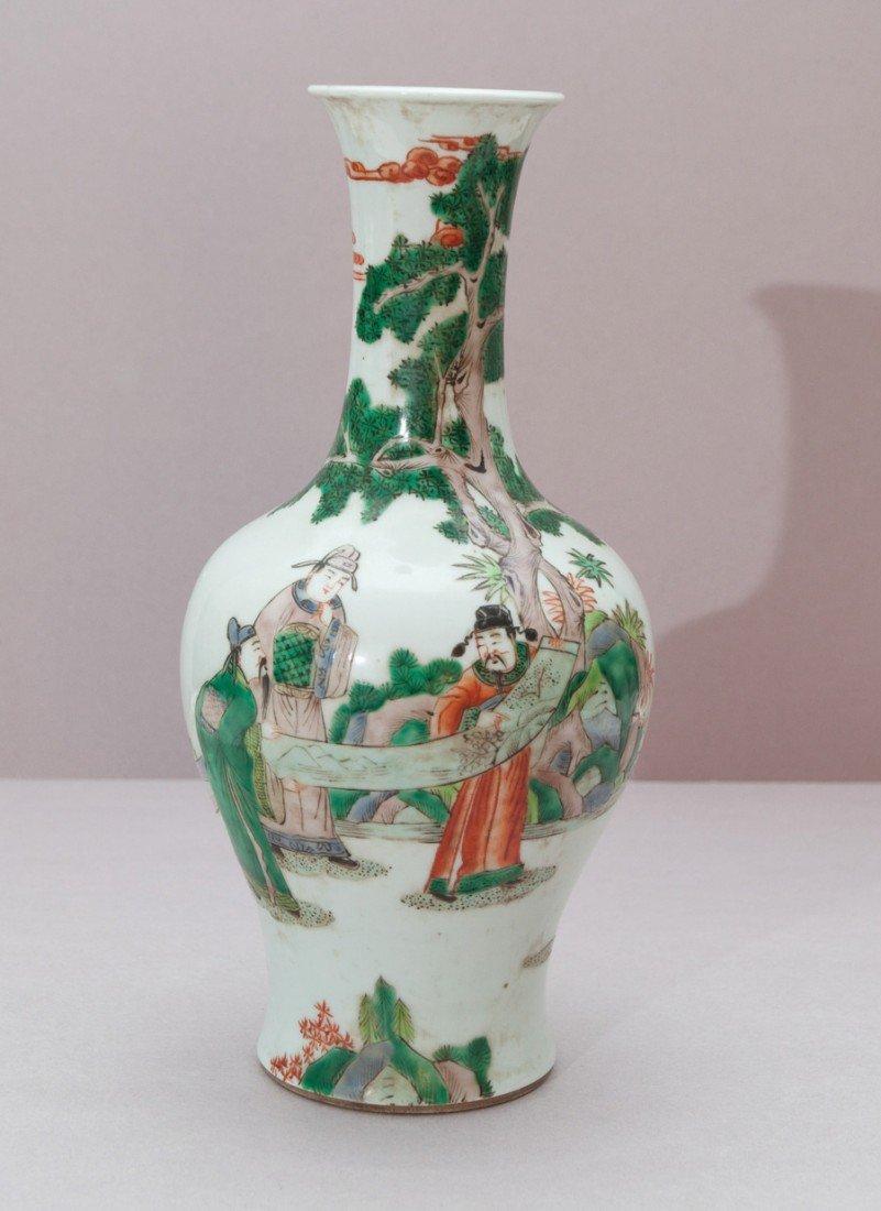 11: A Famille-Verte Figure Vase