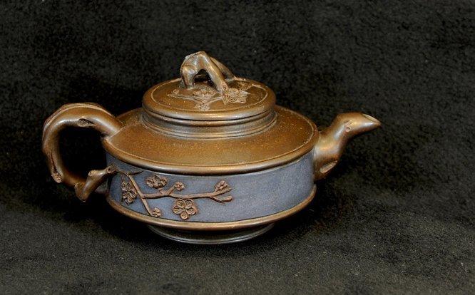 3008:Wang Jianfen, Teapot with plum tree
