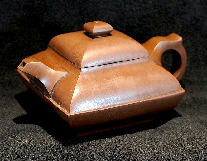 3017:Shi Xiaoma, Square Teapot