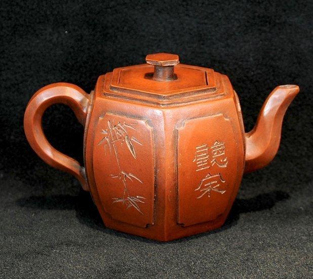3019:Jiang Xianda, Teapot in hexagonal style