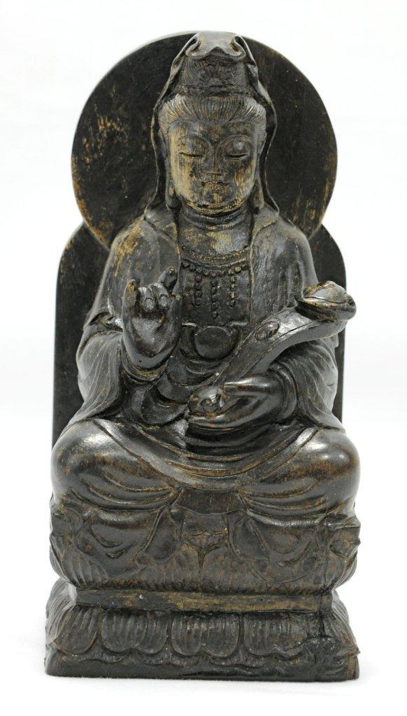 4012: A chenxiang mu carved guanyin