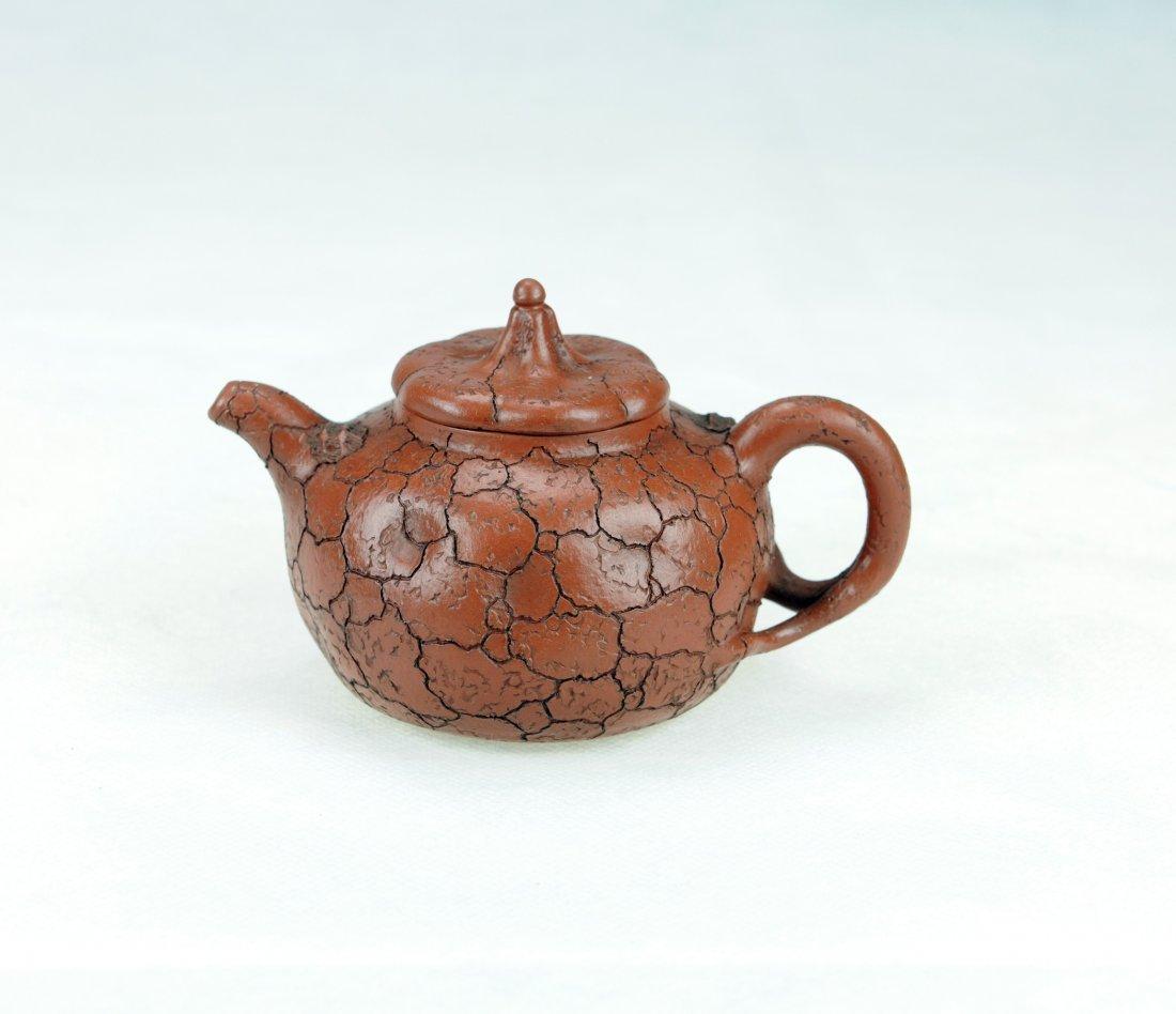 5011: Zhou Bojun-A Melon-shaped style Zisha Tea pot