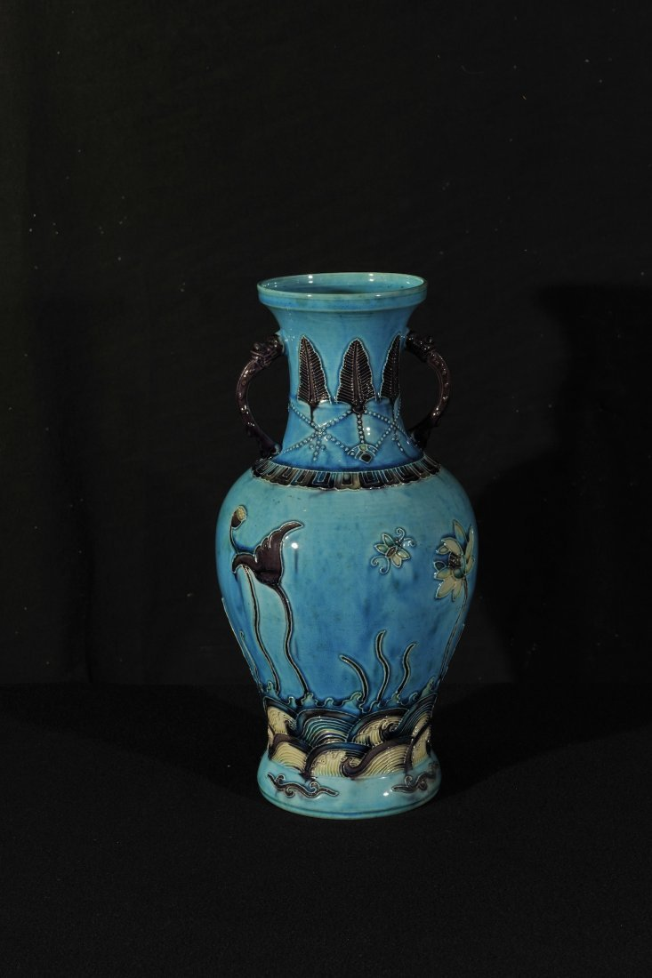 Early 20th Century.A Fa-Wah blue ground 'Lotus flower'