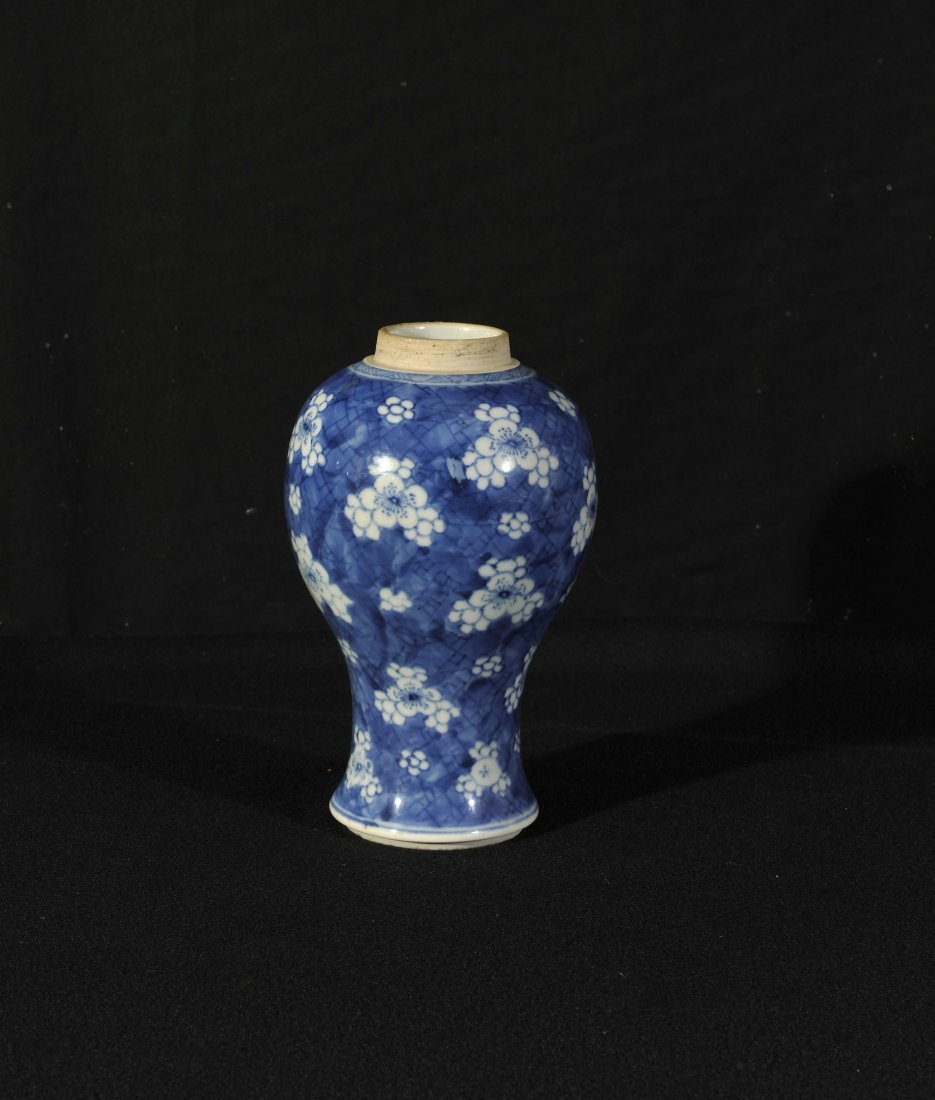 Qing.A blue and white vase