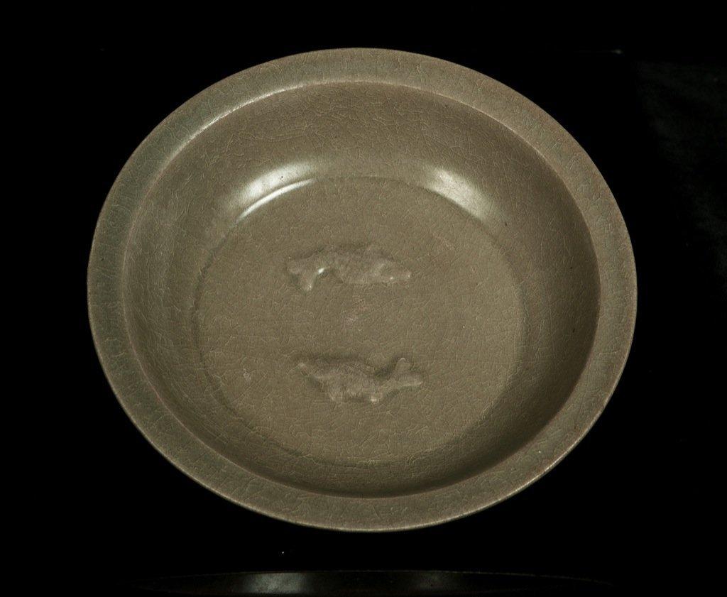 Yuan Dynasty.LongQuan 'Double Fish' dish