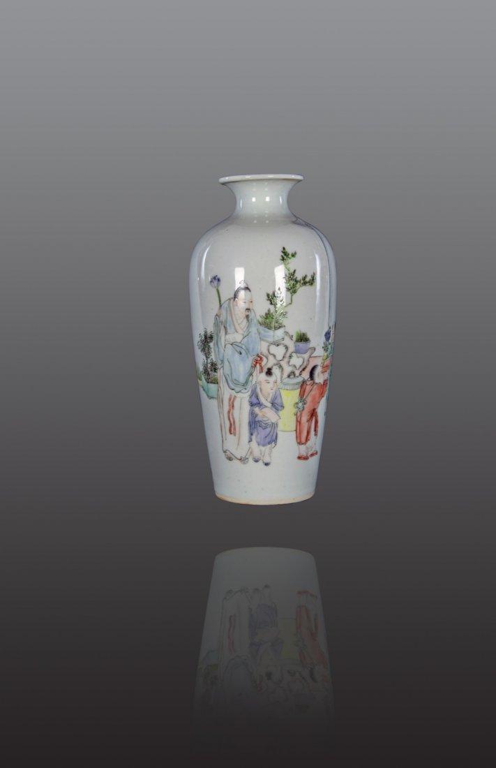 Republic - A famille-rose 'Figure' vase