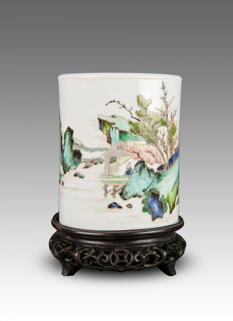 Late Qing/Republic-A Beautiful Famille Glaze