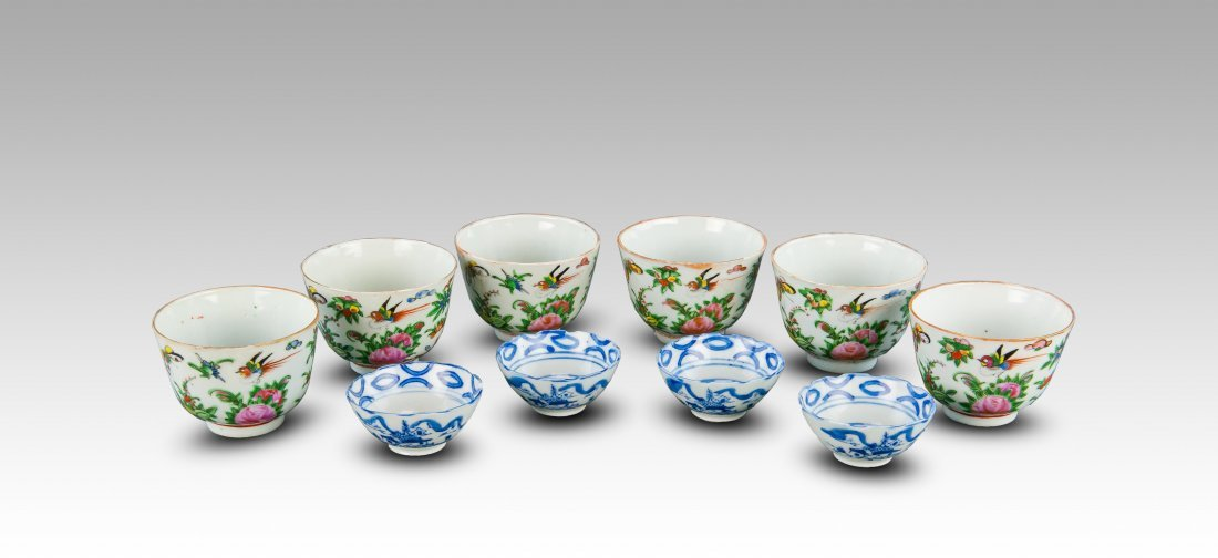 Early 20th Century-A Group Of Famille Glaze, Blue And