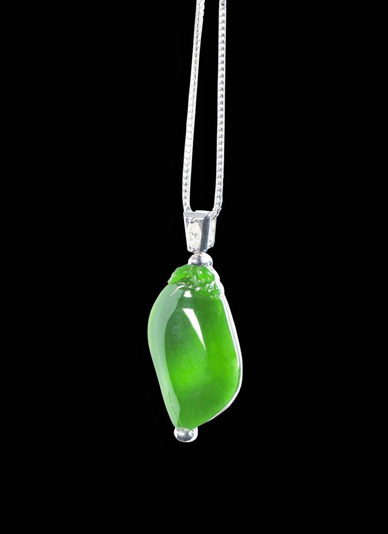 A Rare And Beautiful Translucent Full Green Jadeite