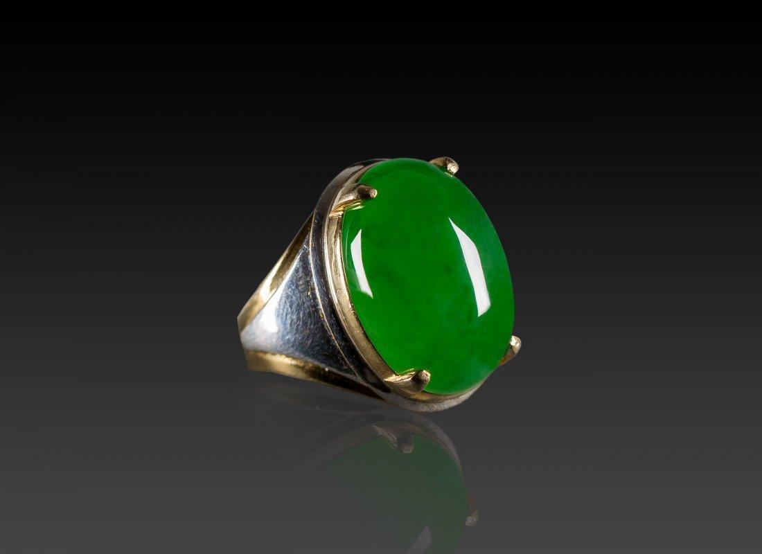 A Translucent Jadeite Cabochon Ring