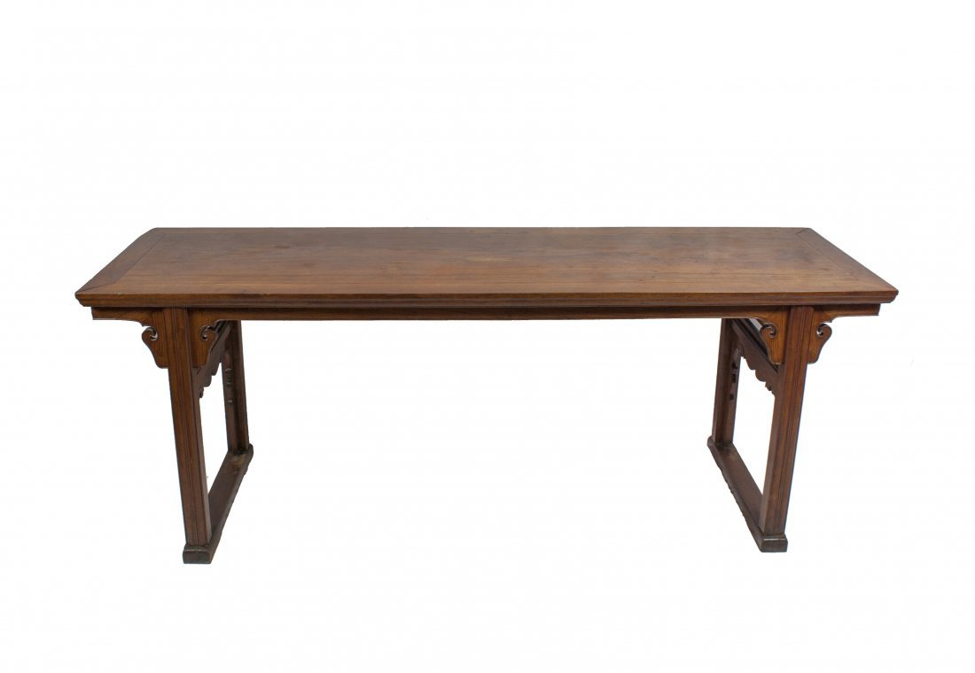 Qing - A HUANGHUALI RECESSED LEG ALTAR TABLE