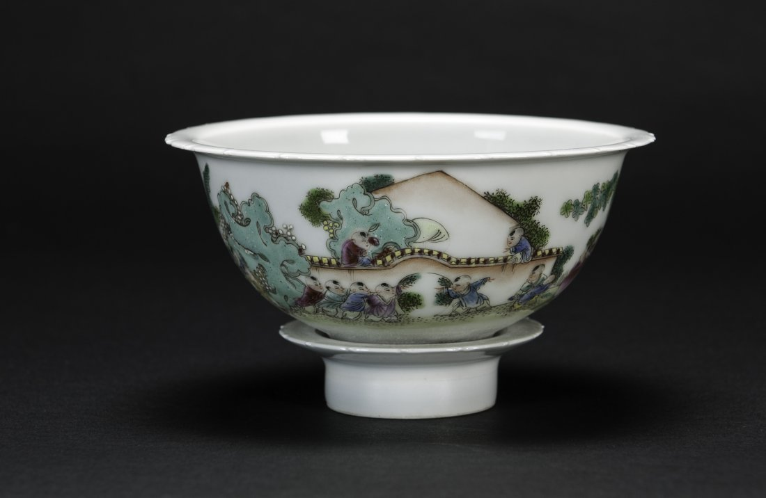 Qing - A Chinese Famille- Glazed Turnable Rim Bow