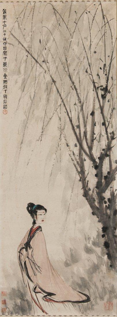 Fu Boashi (1904-1965) Chinese Painting -Beauty