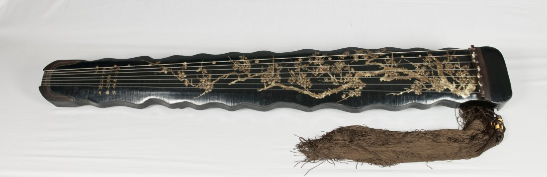 Qing Dynasty -A Rare Lacquer Qin, Musical Instrument