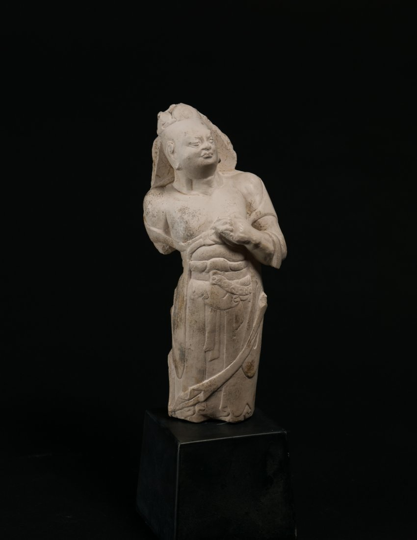 Northern Qi (550-557 AD)-White Marble Standing