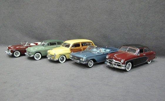 341N: Five (5) 1/24 Scale Danbury Mint Cars