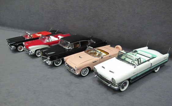 342N: Five (5) 1/24 Scale Franklin Mint Cars