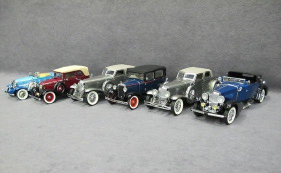 343N: Six (6) 1/24 Scale Franklin Mint Cars
