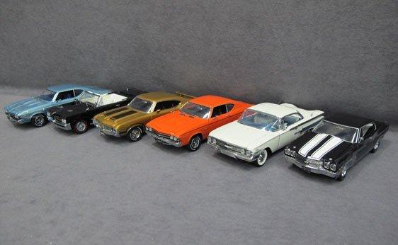 344N: Six (6) 1/24 Scale Franklin Mint Cars