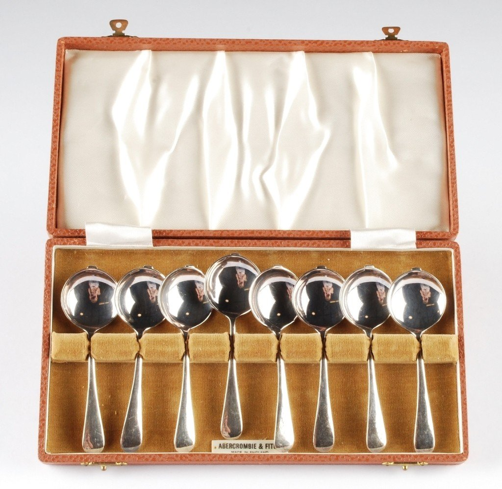 1: Eight Abercrombie & Fitch Bouillon Spoons