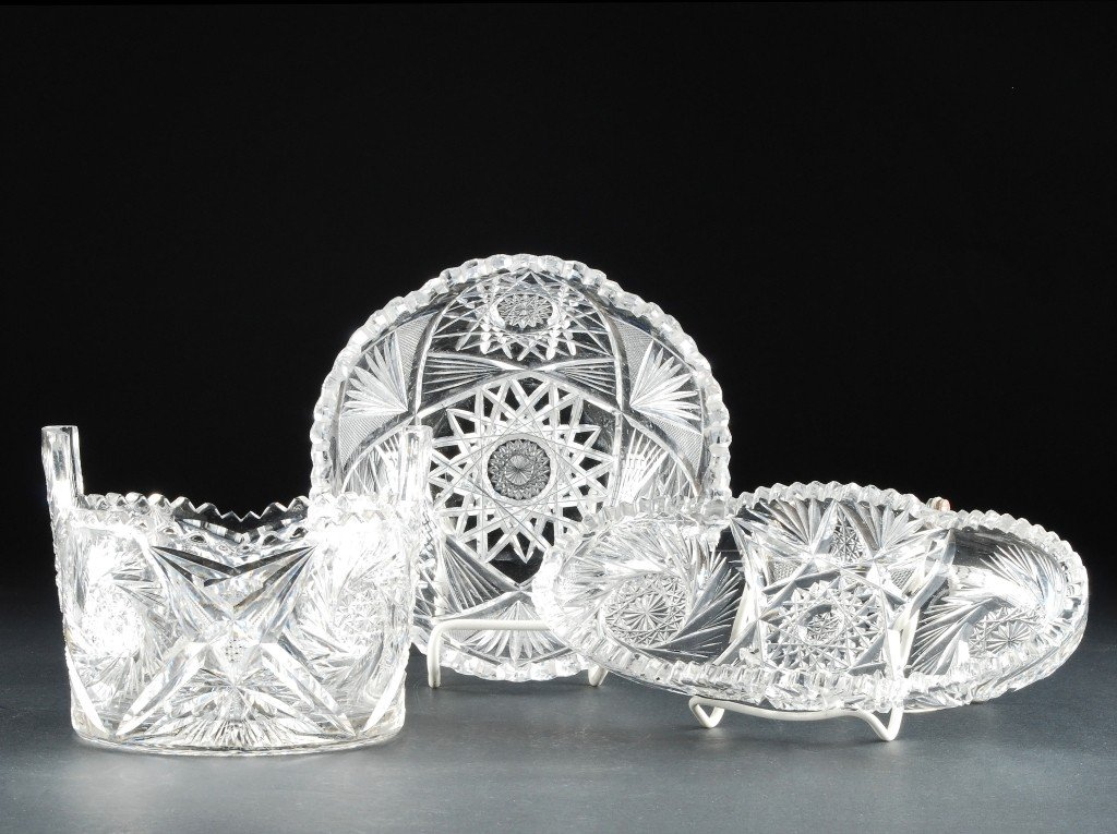 20: Three Pieces of American Brilliant Cut Glass