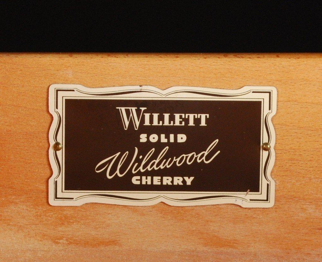 100: CONSIDER H WILLETT SOLID CHERRY DRESSER AND MIRROR - 4