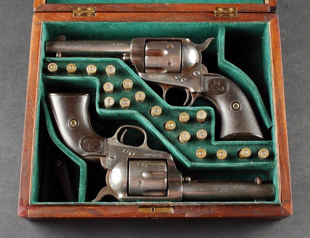 297: Pair .41 Caliber Colt SAAs, Sequential Serial #
