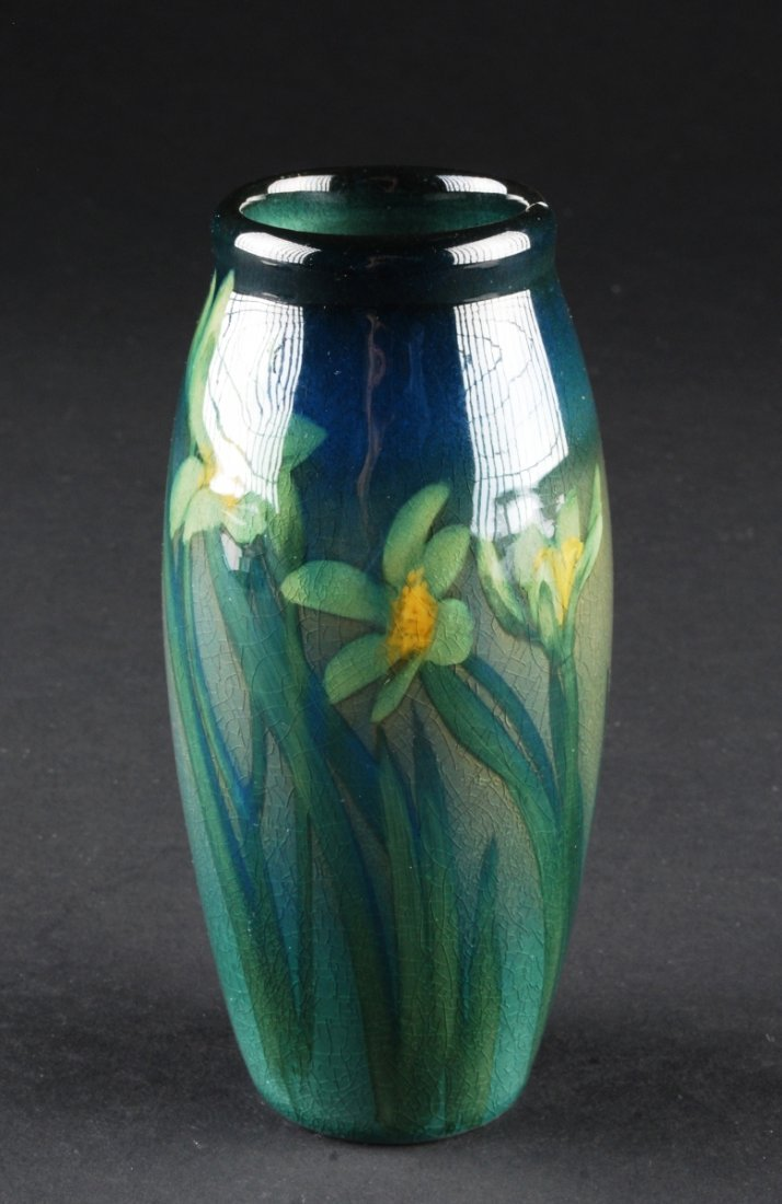 Rookwood Vase, Circa 1904, by Sally Coyne. Height 5 1/2