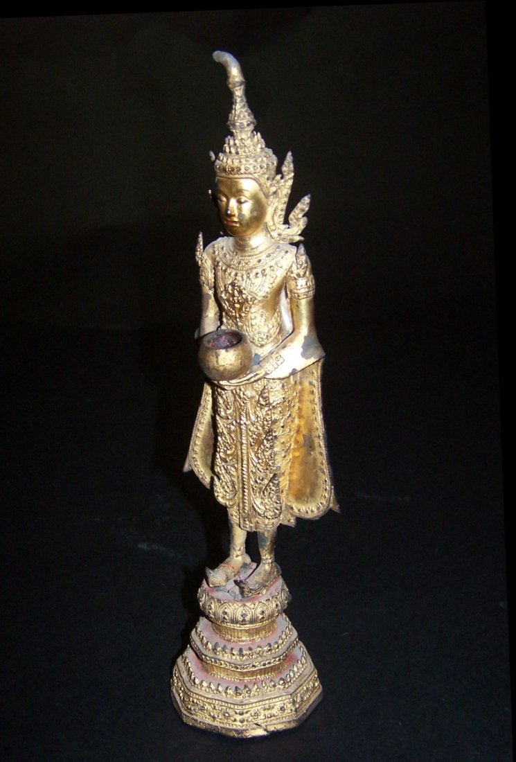 Thai Gilded Religious Figure, Last Half 20th Century,