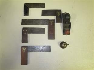 Lot: Eagle Oiler, Sm. Hand Plane, Stanley Brass Fac