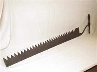 "Ice Saw, Geo. H. Bishiop and Co. 54"" blade"
