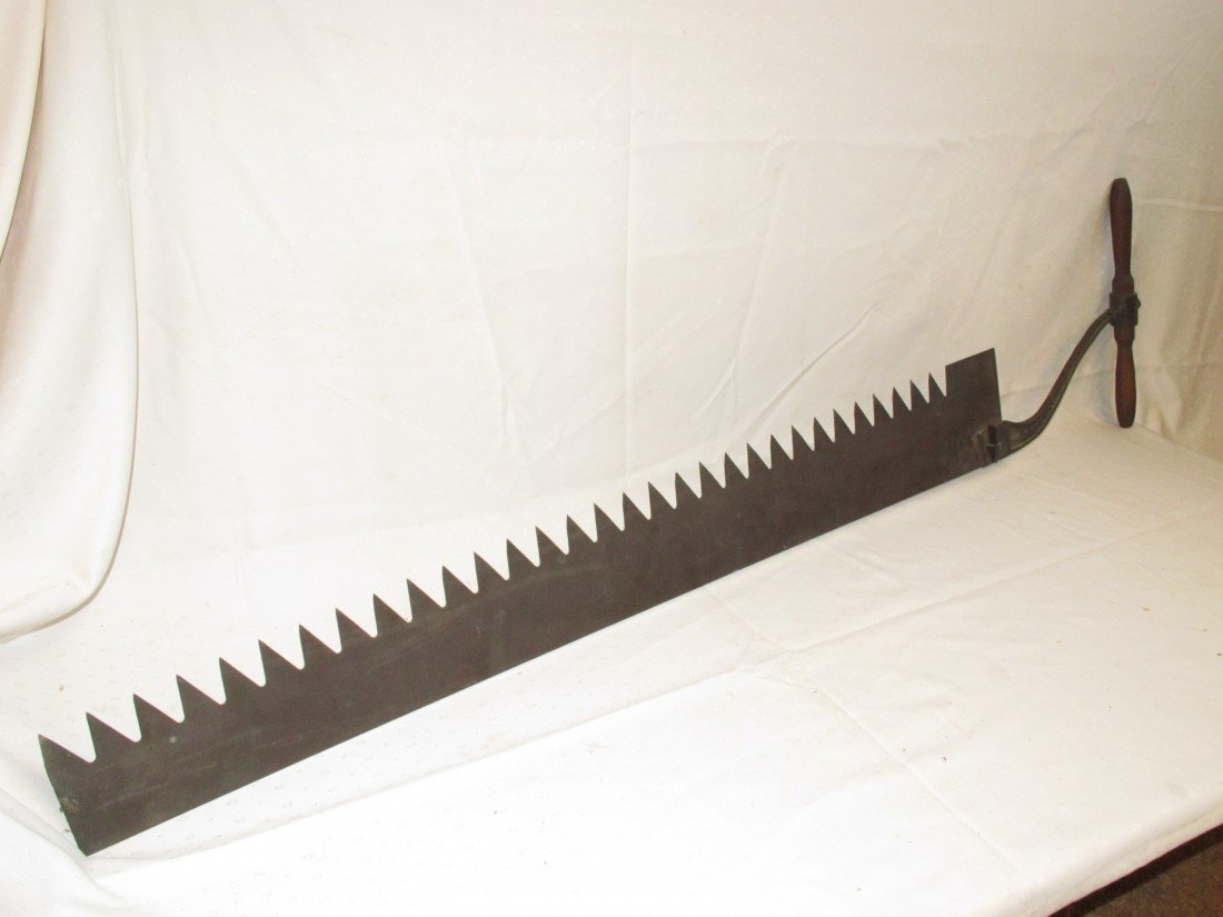 "58: Ice Saw, Geo. H. Bishiop and Co. 54"" blade"