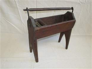 Early Black or Cooper Smith Toolbox, Forged Metal
