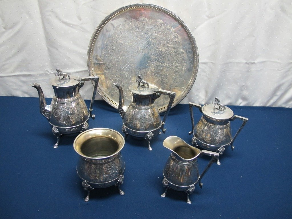 184: Meriden Sterling Silver Plated Tea Set