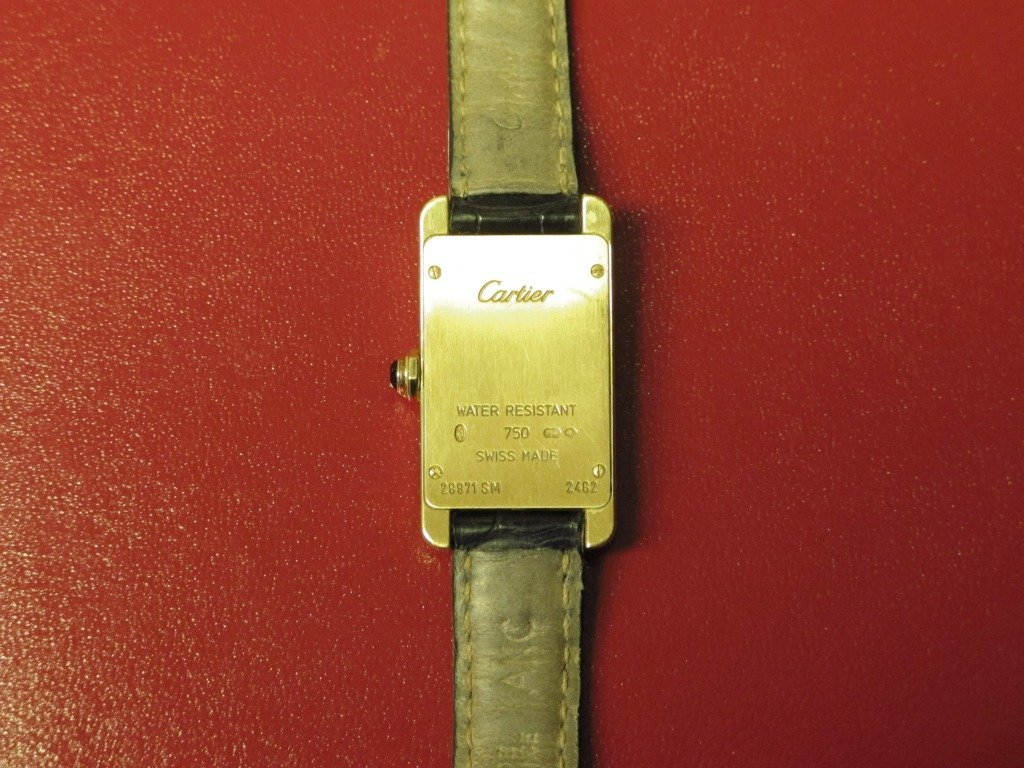 232: Ladies Cartier Americaine Tank Watch, 18K Gold, Pr